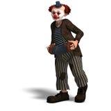Palhaço de circo engraçado com lote das emoções Fotos de Stock Royalty Free