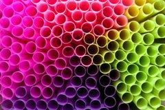 Palhas coloridas Foto de Stock