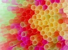 Palhas coloridas Fotos de Stock