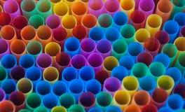 Palhas coloridas da bebida Fotos de Stock Royalty Free