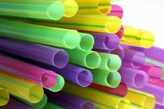 Palhas coloridas múltiplas. Fotografia de Stock