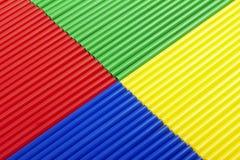 Palhas coloridas macro para o fundo Imagem de Stock Royalty Free