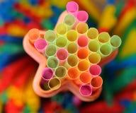 Palhas coloridas para bebidas Fotografia de Stock