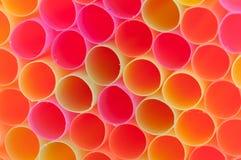 Palhas de Colorfull Fotos de Stock