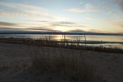 Palhas na praia Fotos de Stock