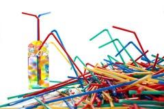 Palhas plásticas Foto de Stock