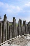 Paliçada de madeira imagem de stock
