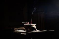 Palić czerwoni joss kije w Chińskiej świątyni Obraz Royalty Free