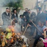 Palić pozostawionych zaczyniających produkty przed Passover zdjęcia royalty free