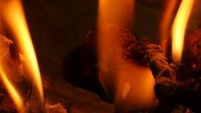 Palić w piekło ogieniu - dolly strzał zbiory wideo