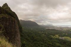 Pali-Ausblick, Oahu Lizenzfreie Stockfotos