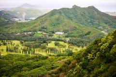 Pali Ausblick, Oahu, Hawaii Stockbild