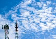 Pali chiari del cielo. Fotografia Stock
