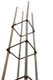 Pali d'acciaio per costruzione Fotografie Stock