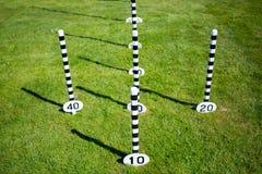 Pali del gioco degli anelli di corda Fotografia Stock