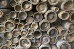 Pali di bambù Immagini Stock