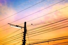Pali di elettricità Immagine Stock Libera da Diritti