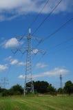 Pali di elettricità in natura Immagine Stock