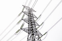 Pali di elettricità Immagini Stock Libere da Diritti