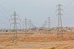 Pali di potere di Yazd Fotografie Stock Libere da Diritti