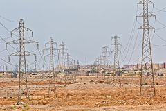 Pali di potere di Yazd Immagine Stock Libera da Diritti
