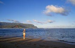 pali för hawaii kauai bergna Arkivfoto