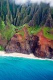 pali för kustkauai na Arkivbilder