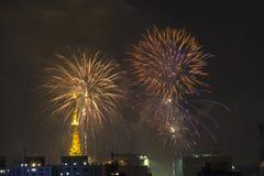 Palić fajerwerki podczas Reveillon w Brazylia Zdjęcie Royalty Free