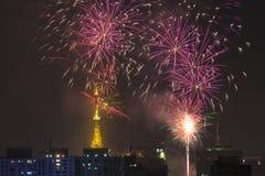 Palić fajerwerki podczas Reveillon w Brazylia Fotografia Stock