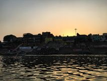 Palić Ghat przy Varanasi, India Zdjęcie Stock