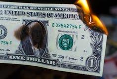 Palić jeden dolara Zdjęcie Royalty Free