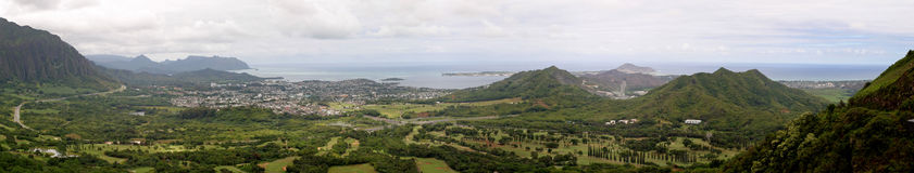 Pali Lookout, Hawaii. Panorama of the Pali Lookout, Hawaii Royalty Free Stock Image