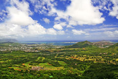 Pali lookout in Oahu Hawaii Royalty Free Stock Photography