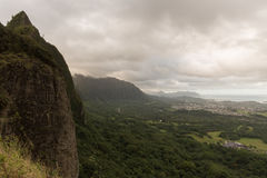 Pali Lookout, Oahu Royalty Free Stock Photos