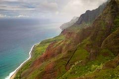 pali na kauai свободного полета Стоковая Фотография