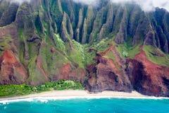 pali na kauai свободного полета Стоковое Фото