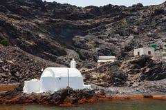 Palia Kameni Santorini Stock Image