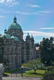 The Paliament Buildings Victoria. VICTORIA, BC - CIRCA JUNE 2014 - B.C. Legislature aka The Paliament Buildings Royalty Free Stock Photo