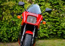Kawasaki GPZ 900 motorcycle from Top Gun movie photographed outdoor in the park Stock Photography