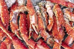 Paliczki królewiątko krab Tło z krabów paliczkami obrazy royalty free