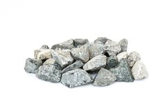 Palidezca de la piedra machacada aislada Imagen de archivo libre de regalías