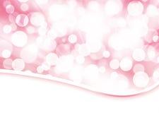 Palidezca el fondo color de rosa del extracto del bokeh Fotos de archivo