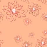 Palidezca el modelo inconsútil con las flores delicadas de la magnolia en un cremoso-rosado Fotografía de archivo libre de regalías