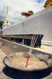 Palillo de ídolo chino para la pagoda de la adoración en templo Imagenes de archivo