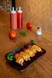 Palillo de Ham&cheese Imagen de archivo libre de regalías