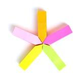 Palillo de la nota de la flecha Fotografía de archivo libre de regalías
