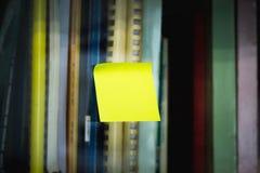 Palillo de la nota del poste fotografía de archivo