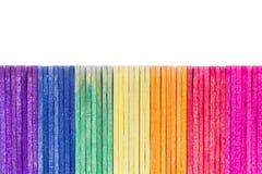 Palillo de madera colorido del helado imágenes de archivo libres de regalías