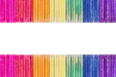 Palillo de madera colorido del helado foto de archivo