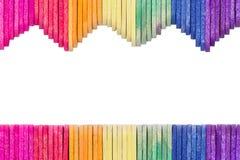 Palillo de madera colorido del helado fotografía de archivo